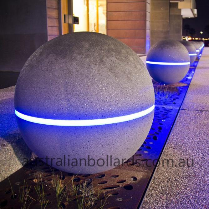 Granite Spheres with Light