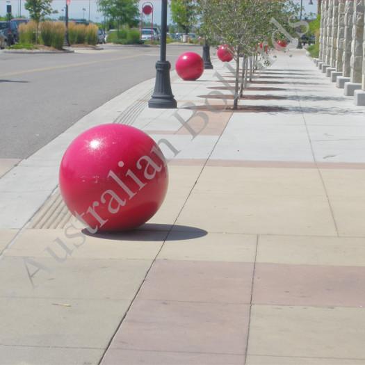 Bubble gum designer bollards.